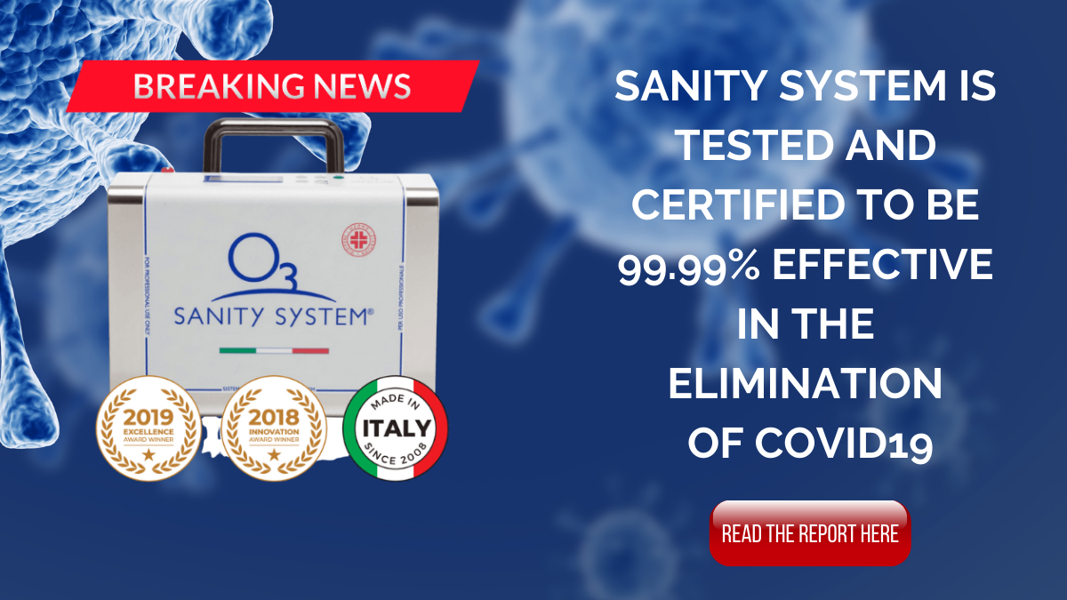 Sanity System is tested and certified to be 99.99% effective in the Elimination of COVID19